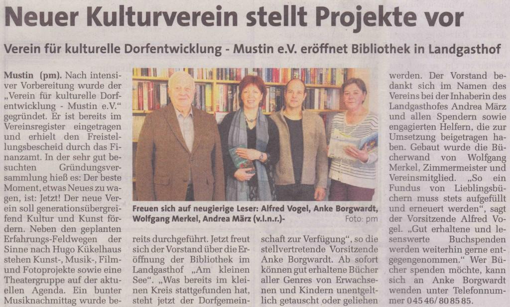 Kulturverein Bücherregal
