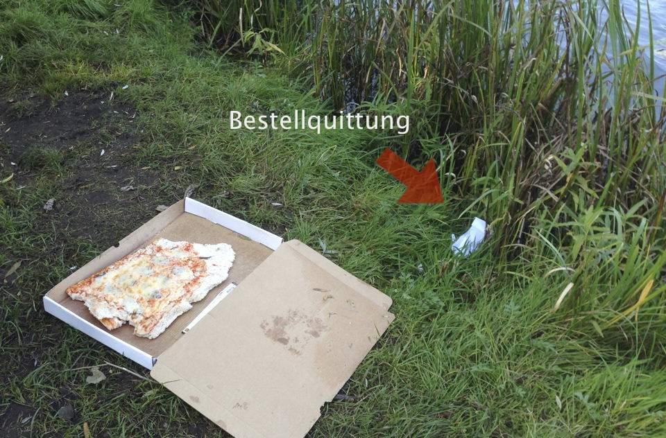 Pizzarest am kleinen See
