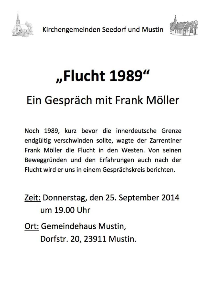 Plakat Gespräch Flucht 89